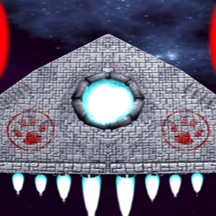 Space Created - 2D shotter on Mobile